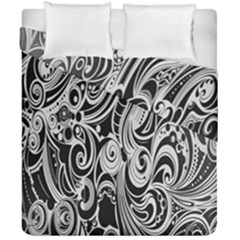 Black White Pattern Shape Patterns Duvet Cover Double Side (california King Size) by Simbadda