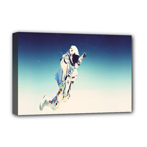 Astronaut Deluxe Canvas 18  X 12   by Simbadda