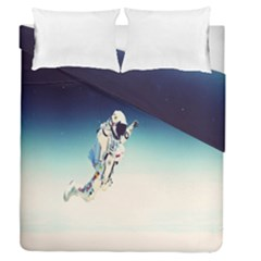 Astronaut Duvet Cover Double Side (queen Size) by Simbadda
