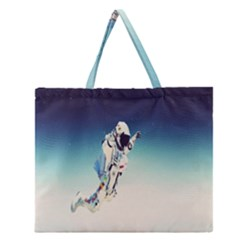 Astronaut Zipper Large Tote Bag by Simbadda