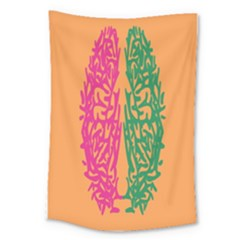 Brian Pink Green Orange Smart Large Tapestry by Alisyart