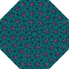Blue Purple Floral Flower Sunflower Frame Hook Handle Umbrellas (medium) by Alisyart