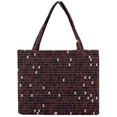 Cubes Small Background Mini Tote Bag by Simbadda