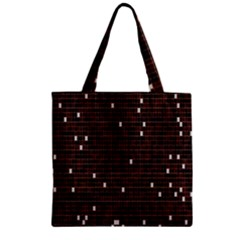 Cubes Small Background Zipper Grocery Tote Bag by Simbadda