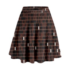 Cubes Small Background High Waist Skirt by Simbadda
