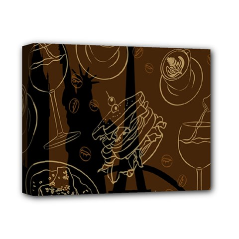 Coffe Break Cake Brown Sweet Original Deluxe Canvas 14  X 11  by Alisyart