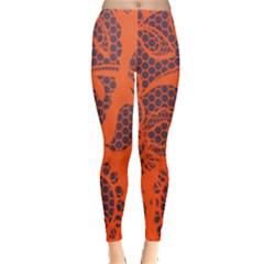 Enlarge Orange Purple Leggings  by Alisyart