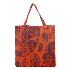 Enlarge Orange Purple Grocery Tote Bag by Alisyart