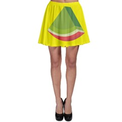 Fruit Melon Sweet Yellow Green White Red Skater Skirt by Alisyart