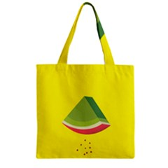 Fruit Melon Sweet Yellow Green White Red Zipper Grocery Tote Bag by Alisyart