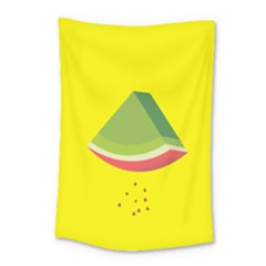 Fruit Melon Sweet Yellow Green White Red Small Tapestry by Alisyart