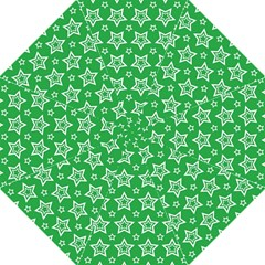 Green White Star Line Space Folding Umbrellas by Alisyart