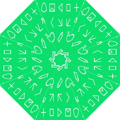 Icon Sign Green White Hook Handle Umbrellas (large) by Alisyart
