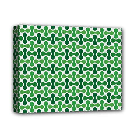Green White Wave Deluxe Canvas 14  X 11  by Alisyart