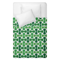 Green White Wave Duvet Cover Double Side (single Size) by Alisyart