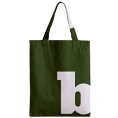 Square Alphabet Green White Sign Zipper Classic Tote Bag by Alisyart