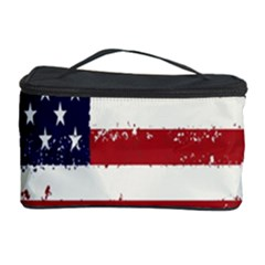 Flag United States United States Of America Stripes Red White Cosmetic Storage Case by Simbadda