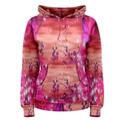 Flowers Neon Stars Glow Pink Sakura Gerberas Sparkle Shine Daisies Bright Gerbera Butterflies Sunris Women s Pullover Hoodie