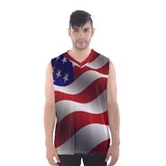 Flag United States Stars Stripes Symbol Men s Basketball Tank Top by Simbadda