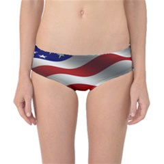 Flag United States Stars Stripes Symbol Classic Bikini Bottoms by Simbadda