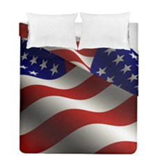 Flag United States Stars Stripes Symbol Duvet Cover Double Side (full/ Double Size) by Simbadda