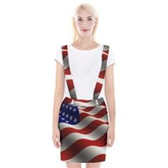 Flag United States Stars Stripes Symbol Suspender Skirt by Simbadda