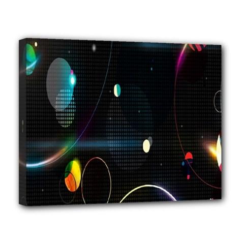 Glare Light Luster Circles Shapes Canvas 14  X 11  by Simbadda