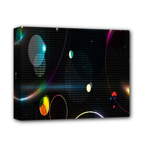 Glare Light Luster Circles Shapes Deluxe Canvas 14  X 11  by Simbadda