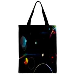 Glare Light Luster Circles Shapes Zipper Classic Tote Bag by Simbadda