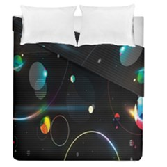 Glare Light Luster Circles Shapes Duvet Cover Double Side (queen Size) by Simbadda