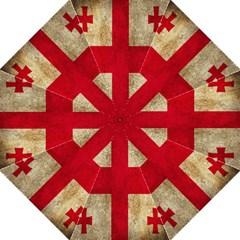 Georgia Flag Mud Texture Pattern Symbol Surface Hook Handle Umbrellas (medium) by Simbadda