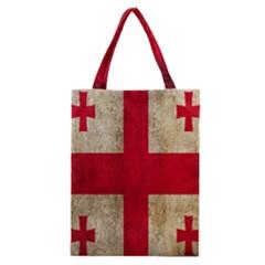 Georgia Flag Mud Texture Pattern Symbol Surface Classic Tote Bag by Simbadda