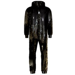 New York United States Of America Night Top View Hooded Jumpsuit (men)  by Simbadda