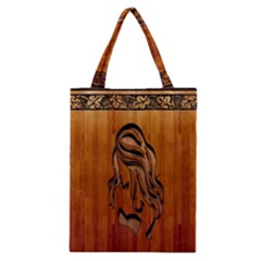 Pattern Shape Wood Background Texture Classic Tote Bag by Simbadda