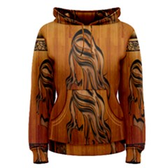 Pattern Shape Wood Background Texture Women s Pullover Hoodie by Simbadda