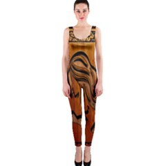 Pattern Shape Wood Background Texture Onepiece Catsuit by Simbadda