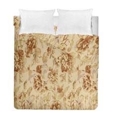 Patterns Flowers Petals Shape Background Duvet Cover Double Side (full/ Double Size) by Simbadda