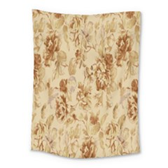 Patterns Flowers Petals Shape Background Medium Tapestry by Simbadda