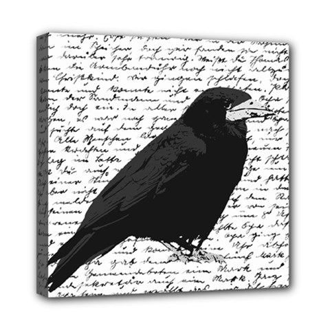 Black Raven  Mini Canvas 8  X 8  by Valentinaart