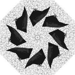 Black Raven  Straight Umbrellas by Valentinaart