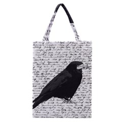 Black Raven  Classic Tote Bag by Valentinaart