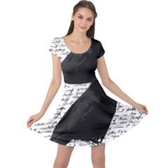 Black Raven  Cap Sleeve Dresses by Valentinaart