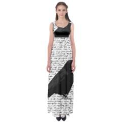 Black Raven  Empire Waist Maxi Dress by Valentinaart