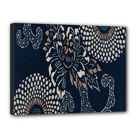 Patterns Dark Shape Surface Canvas 16  X 12  by Simbadda