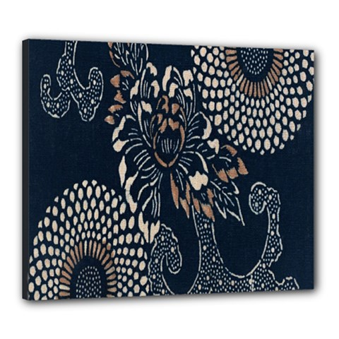 Patterns Dark Shape Surface Canvas 24  X 20  by Simbadda