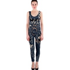Patterns Dark Shape Surface Onepiece Catsuit by Simbadda