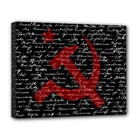 Communism  Deluxe Canvas 20  X 16   by Valentinaart