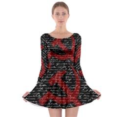 Communism  Long Sleeve Skater Dress by Valentinaart
