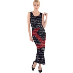 Communism  Fitted Maxi Dress by Valentinaart
