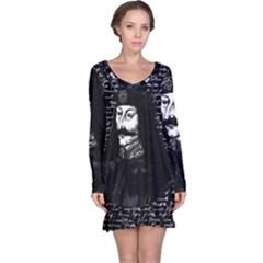 Count Vlad Dracula Long Sleeve Nightdress by Valentinaart